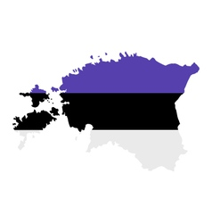 Map estonia vector