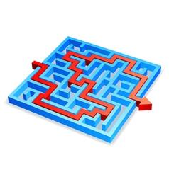 Maze concept vector image