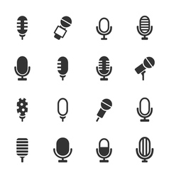 Microphone an icon vector