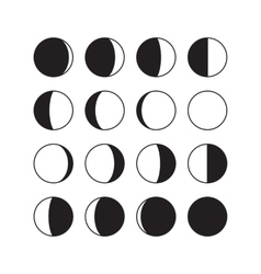 Moon Phases Icons vector