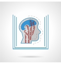 MRI flat icon vector image