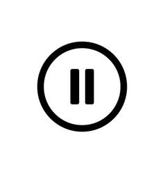 Pause icon button symbol vector