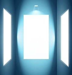 photo frame with lights vector image
