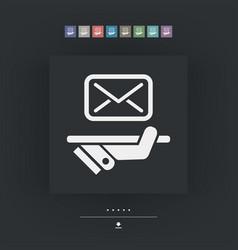 Postal agencies icon vector