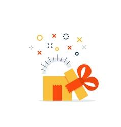 Present reward prize icon vector image