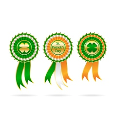 ribbon award for patrick day vector image