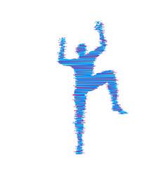 Rock climber silhouettes bouldering sport vector