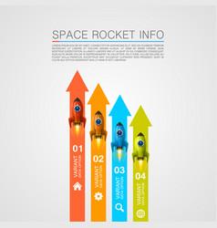 rocket racing info art cover vector image