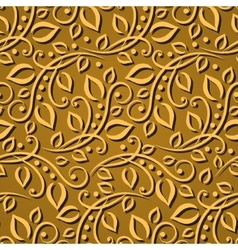 Seamless pattern gold leaves Elegant texture for vector