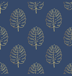 seamless tropical pattern tropical gold vector image