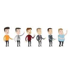 Set middle aged man vector