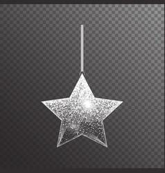 Shiny christmas star vector