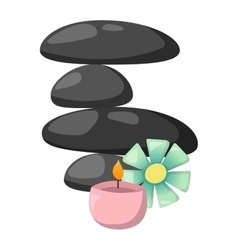 Spa stones isolated vector image
