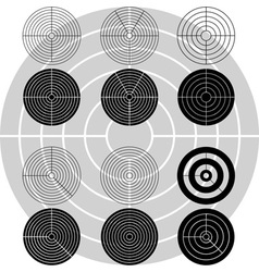 stencils targets first variant vector image
