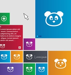 Teddy bear icon sign buttons modern interface vector