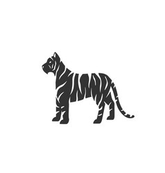 tiger silhouette black and vector image