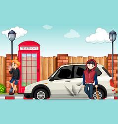 urban street teenager in town vector image