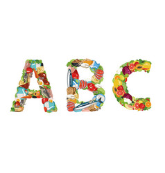 vitamins - a b c vector image