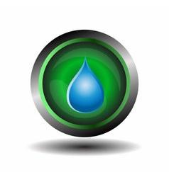 Water drop button vector