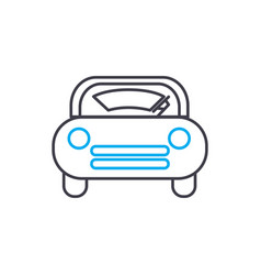 Windscreen wiper thin line stroke icon vector