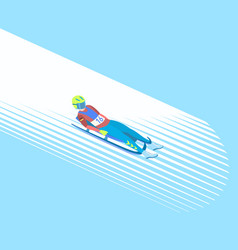winter sport luge vector image
