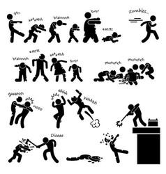 zombie undead attack apocalypse survival defense vector image