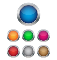 collection of glossy buttons vector image vector image