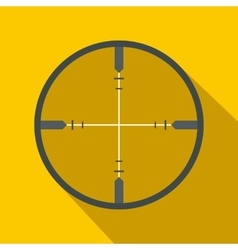 Crosshair flat icon vector image vector image