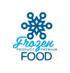 frozen product premium food label for freezing vector image