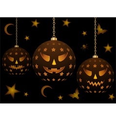 lanterns for halloween vector image vector image
