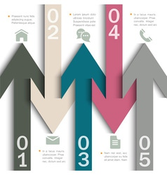 Modern banner arrow design for infographics vector image vector image