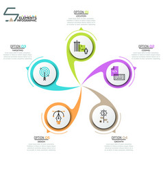 modern infographic design layout vector image