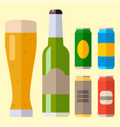 alcohol beer ale glass vector image