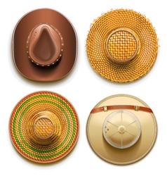 Hats Set vector image