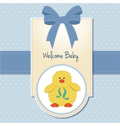 New baby boy welcome card vector