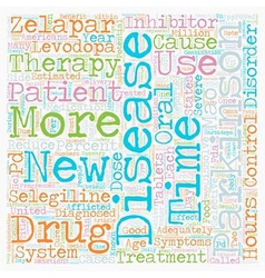 New Therapy For Parkinson s Disease Patients text vector image vector image