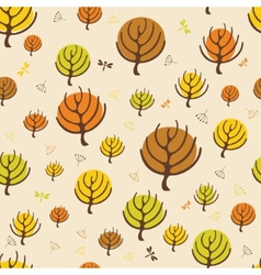 Autumn trees pattern for design wrapping paper vector image vector image