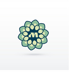 beautiful flower or mandala style logo design vector image vector image