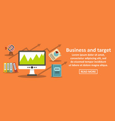 business and target banner horizontal concept vector image vector image