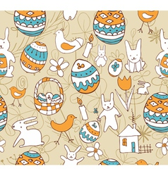 Easter Seamless background with a childrens vector image vector image