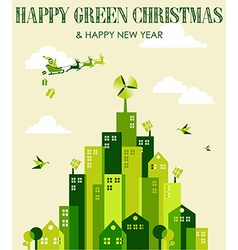 Happy green Christmas vector image vector image