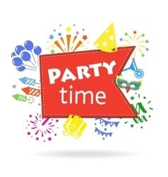 Party time sign Holiday celebration emblem vector image vector image