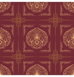Seamless oriental wallpaper7 vector image