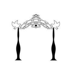 vintage graphic chuppah religious jewish wedding vector image vector image