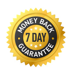 7 day money back guarantee label vector image