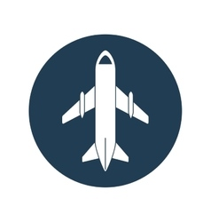 airplane travel business vacation blue circle vector image