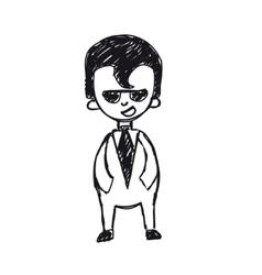 businessman says vector image