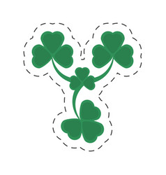 cartoon st patricks day clover symbol vector image