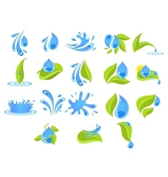 Fresh Water Badges and Stickers vector image