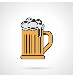 Glass of beer flat color icon vector image